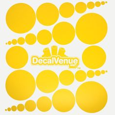 Yellow Polka Dot Circles Wall Decals #decals #stickers #decalvenue