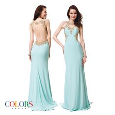 Backless Beauty! COLORS DRESS Style 1148. #fashion #gown #couture #sexy #skin #prom #promshopping #promseason #unboxing #beauty #hair