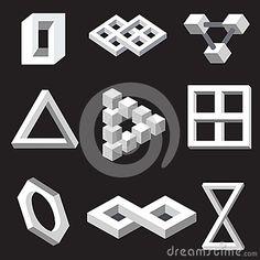 Paradox Illusions | ... Free Stock Photography: Optical illusion symbols. Vector illustration