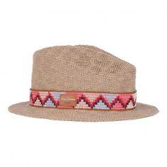 Chapeau de Paille Ruban Imprimé Ethnique Isa Naturel Pepe jeans