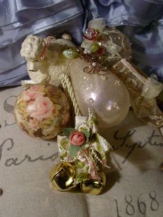 Vintage Victorian Ornaments  Christmas by EdenCoveTreasures, $35.00