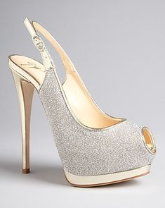 Giuseppe Zanotti Peep Toe Platform Evening Pumps - Sparkle | Bloomingdale's