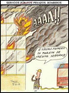 Título: Servicios públicos privados: Bomberos, Title: Public private services: Firemen