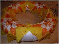 haryb | falešný patchwork, falošný patchwork, artyčoková technika, Quilted Ornament - návod na věnec – rajce.net