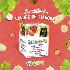 The same fruits you know and love in crunchy form! #frulicious #fruliciousHappiness #HappyKids