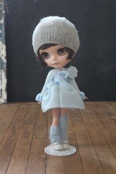 Blue Fleece dress