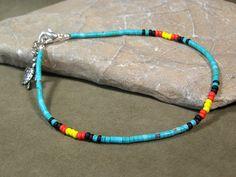 Ankle Bracelet  Native American design by StoneWearDesigns