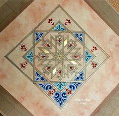 by Atiya Sharmin. Arabic Design, Arabic Art, Islamic Tiles, Islamic Art, Pattern Drawing, Pattern Art, Islamic Patterns, Dragonfly Art, Turkish Art