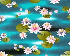 Lily Pond - Floating Lotus - Teal