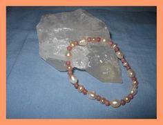 wunderschönes Armband Süsswasserperlen und Rhod... von glastropfen´s Kreativwerkstatt auf DaWanda.com