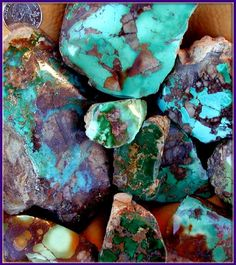 Royston is a group of old Nevada Mines that produce a beautiful medium blue to dark green turquoise with brown matrix.