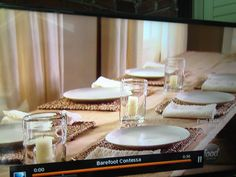 My table setting for this year 39 s thanksgiving i lined the - Ina garten flower arrangements ...