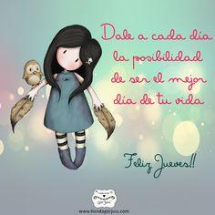 Que cada día sea el mejor de tu vida.  Disfruta del día de hoy, feliz Jueves !! #FelizJueves #Gorjuss #TiendaGorjuss