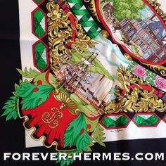"""Queen Victoria of England was entertained by King Louis-Philippe of France at the Chateau d'Eu in 1843 and 1845. This Hermes scarf now in store http://forever-hermes.com #ForeverHermes is an homage to that """"Entente Cordiale"""" designed by Loic Dubigeon from 1994 and features #horses the #castle and people of #year1843 and royal emblems, lion and ancient ship designs. #Hermes #HermesParis #HermesCarre #horserider #MensSuit #mensfashion #mensnecktie #dapper #womensfashion"""