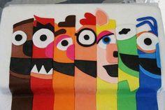 le gateau d'anniversaire Muppets