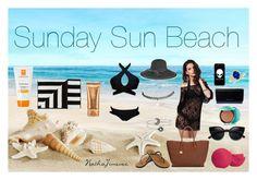 """Sunday Sun Beach"" by nathajimenez on Polyvore featuring moda, Ivanka Trump, Guerlain, San Diego Hat Co., Eos, MICHAEL Michael Kors, Ocean Minded, Lancôme, La Roche-Posay y Wet Seal"