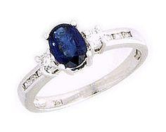 White Gold Sapphirre and Diamond Regal Channel Ring Blue Topaz Ring, Sapphire Diamond, Peridot, Amethyst, Tanzanite Ring, Blue Rings, Smoky Quartz, Gemstone Jewelry, Channel