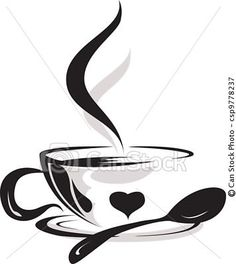 coffee mug silhouettes - Google Search