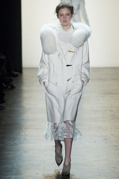 Prabal Gurung Fall 2016 Ready-to-Wear Collection Photos - Vogue...parka perfection, pure white, fur trim, gorgeous!