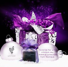 "How about a Christmas surprise from younique? Have a Younique on-line Party and earn FREE Younique Products. Younique all natural mineral makeup. Shop 24/7 at Kathy's Day Spa! Younique Make-up, Try it, you will love it! Welcome to the ""On-line Make-up Spa Party""! Join my Team and have your own Make-up party business. So many ways to sell and earn residual income!! https://www.youniqueproducts.com/paigeb"
