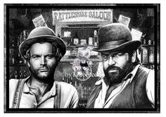 Bud Spencer & Terence Hill von Tattooteddy auf Etsy