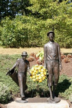 2) Francis Ouimet and Eddie Lowery - on the grounds of the Robert T. Lynch Municipal Golf Course in Brookline, Mass.
