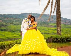 Image may contain: 2 people, people standing, outdoor and nature African Bridal Dress, African Wedding Attire, African Attire, African Dress, Venda Traditional Attire, Traditional Gowns, African Traditional Wedding Dress, Traditional Wedding Attire, Wedding Bridesmaid Dresses