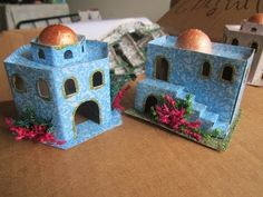 Nativity House, Christmas Nativity, Christmas Home, Xmas, Home Crafts, Arts And Crafts, Diy Crafts, Holiday Ornaments, Christmas Decorations