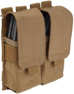Tactical Stacked Double Mag Pouch w/ cover