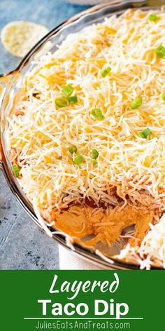 Quick and Easy Meatless Taco Dip that is ready in 5 minutes! This Easy Taco Dip is packed with flavor and the perfect appetizer for a party or game day party. Grab you chips and get to dipping! via @julieseats