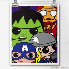 Avengers Limited Edition Print by StudioLongoria on Etsy, $10.00