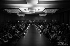 Behind the Scenes at Knoxville Fashion Week sponsored by Gage Models & Talent Agency and photograph by Bob Franklin Photography.  Runway for the Grand Finale at Marriott Downtown Knoxville