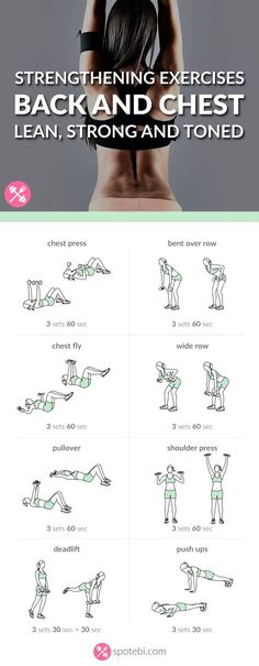 Lift your breasts naturally! Try these chest and back strengthening exercises for women to help you tone, firm and lift your chest and improve your posture. http://www.spotebi.com/workout-routines/chest-back-strengthening-exercises-lean-strong-toned/: