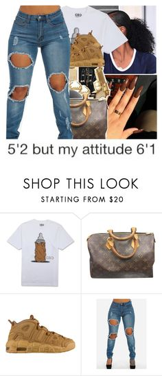 """""""Untitled #792"""" by issaxmonea ❤ liked on Polyvore featuring Louis Vuitton and NIKE"""