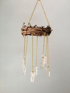 Boho Suncatcher- Rear View Mirror Charm- Tiny Chandelier- Locker Chandelier- Bohemian Wedding Decor- Crysal Home Decor