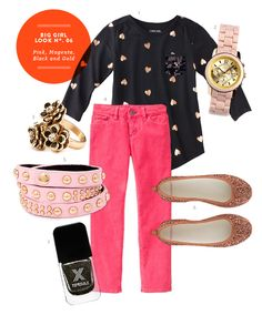 Preteen Girl Outfit: Inspiration Board #06: Pink, Magenta, Black and Gold Big Girl Outfit from The Kids' Dept.