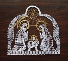 Christmas Nativity, Christmas Themes, Christmas Crafts, Xmas, Freeform Crochet, Crochet Lace, Bobbin Lacemaking, Types Of Lace, Bobbin Lace Patterns