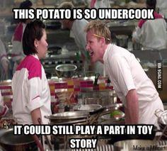 Chef Gordon Ramsay memes  Potato head