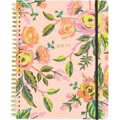 RIFLE PAPER 2017 Jardin de Paris spiral planner (€38) ❤ liked on Polyvore featuring home, home decor, stationery, fillers, books, accessories, notebooks and backgrounds