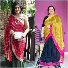 Draping one simple saree with a heavy dupatta to make the sarees a bit more festive. How do you like this idea? #OutfitInspo #OutfitIdeas #Styling #Saree #SareeStyles #SareeDraping #SareeIdeas #SareeLove #SareeLover #StyleHasNoSize #StylingIdeas #SareeNotSorry #FestiveLook #Ethnic #SareeDrape #SareeOfInstagram #JaineeStyleParty #Bandhani #Yellow #Pink Heavy Dupatta, Simple Sarees, Saree Styles, Draping, Indian Wear, Festive, Ethnic, Sari, Yellow