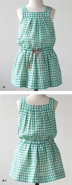Gingham girls dress - would be cute with shorts to make a playsuit