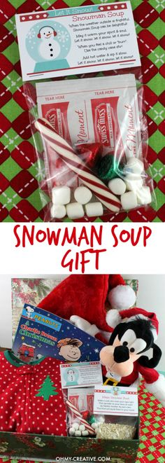 This Snowman Soup Gift Recipe is easy to make and a perfect handmade gift for the holidays! | OHMY-CREATIVE.COM