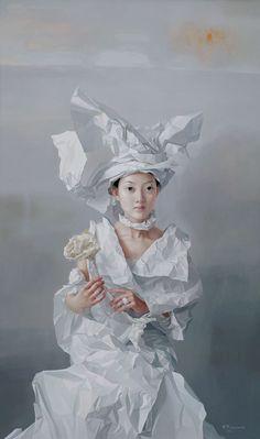 2005 (series) WHITE PAPER BRIDE, Zeng Chuanxing (曾传兴; b1974, Longchang County, Sichuan Province, China)
