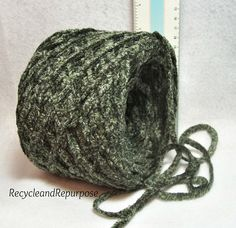 Huge Fat Moss Green Chenille 1/4 inch thick by RecycleandRepurpose, $1.80