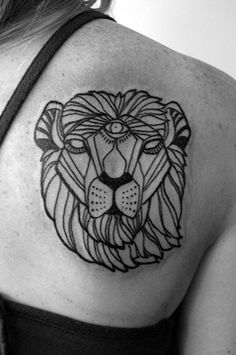 f8aa46253 lion tattoo minimal - i like this style of graphics for staionary Cover Up  Tattoos,