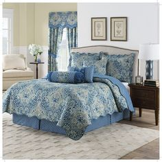 The Waverly Moonlit Shadows Reversible Quilt Set features a whimsical design and a modern medallion print in rich jewel tones. Pattern reverses to a modern ogee coordinating print. King Quilt Sets, Queen Quilt, Queen Bedding, Ruffle Bed Skirts, Ruffle Bedding, Waverly Bedding, Jersey Quilt, Daybed Sets, Geometric Quilt