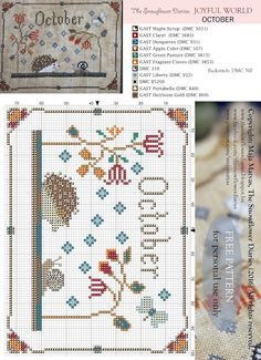 Le journal Snowflower: MONDE JOYFUL - OCTOBRE MOTIF