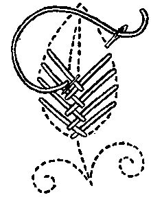 Variants of Cross Stitch: 6. Leaf stitch - Wikipedia, the free encyclopedia