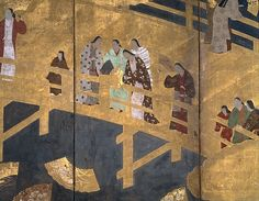 13. Women Contemplating Floating Fans - Edo period (early 17th century)