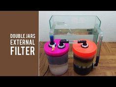 DIY External Filter Using Two Plastic Jars Like Canister Filter Aquarium Sump, Aquarium Stand, Aquarium Ideas, Goldfish Aquarium, Goldfish Tank, Turtle Tank Filters, Diy Aquarium Filter, Fish Tank Stand, Betta Fish Care